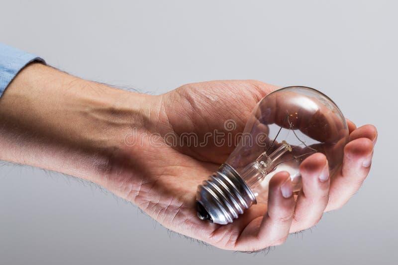 与电灯泡的现有量 库存照片