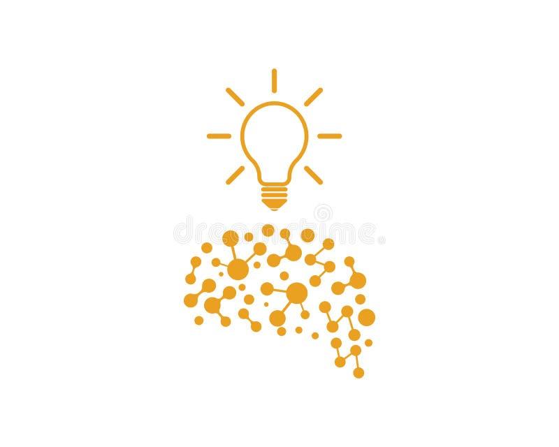 与电灯泡象想法商标传染媒介的脑子和认为 皇族释放例证