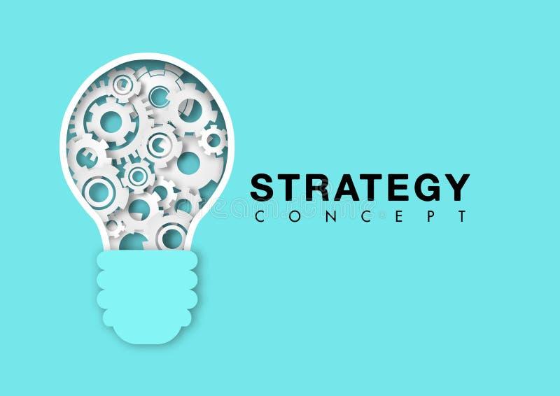 与电灯泡齿轮传染媒介的战略概念 皇族释放例证