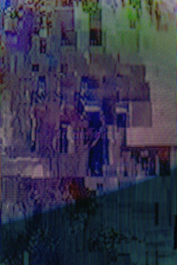 与电视小故障错误的抽象数字设计背景 库存图片