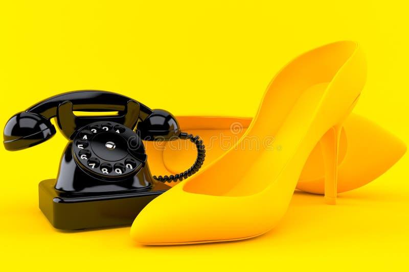 与电话的阴物背景 向量例证