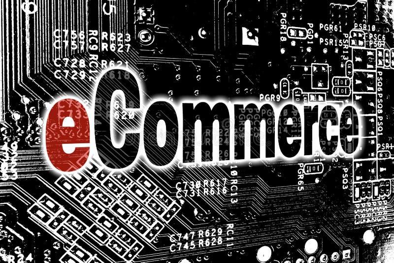 与电路板概念的电子商务 库存例证