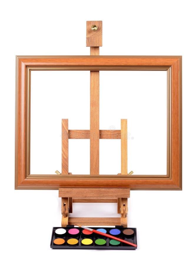 与画架的框架绘的样式的 图库摄影