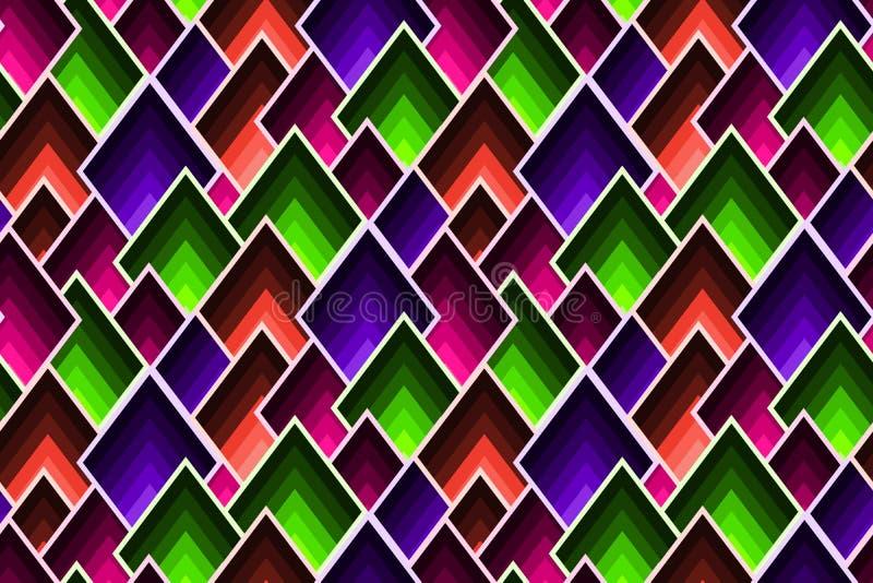 与疏散马赛克锭剂的抽象几何样式在时髦颜色 向量例证