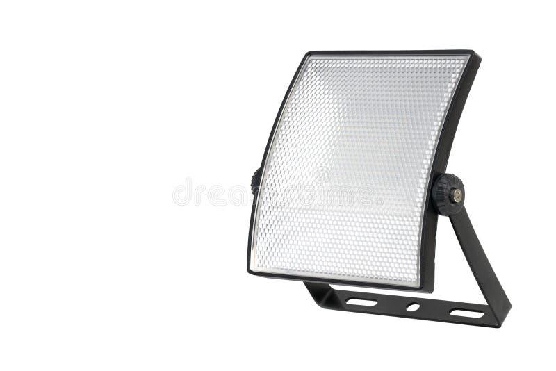 与登上的被隔绝的弯曲的LED聚光灯在白色背景 免版税图库摄影
