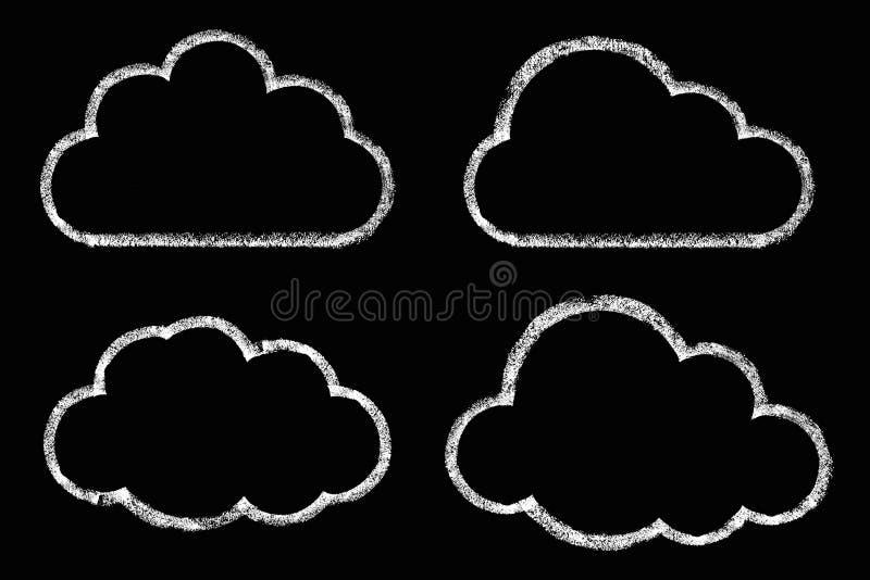 与白垩的云彩图画 皇族释放例证