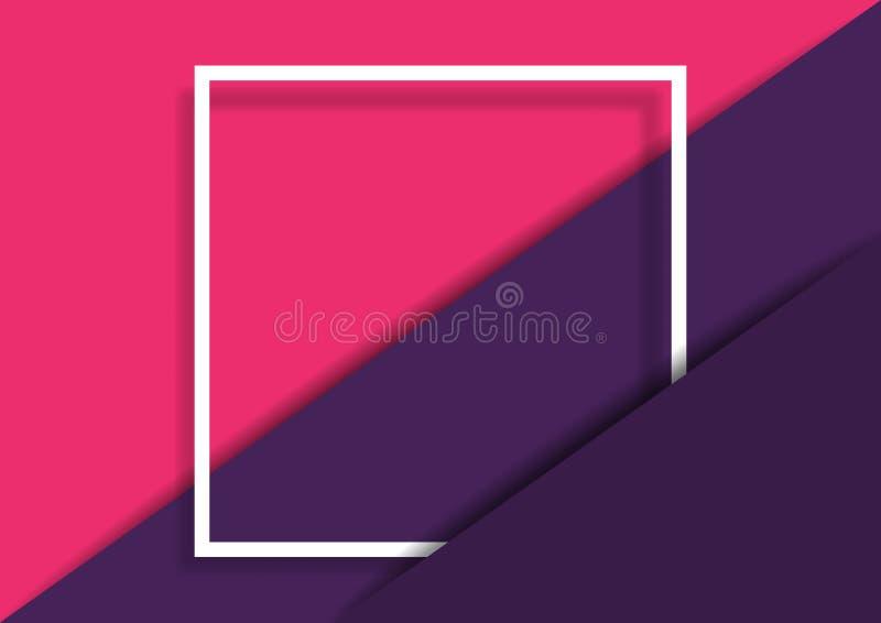 与白方块框架的抽象纸削减了背景 库存例证