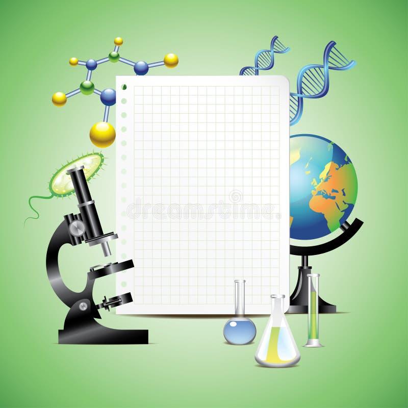 与白纸的科学项目 向量例证