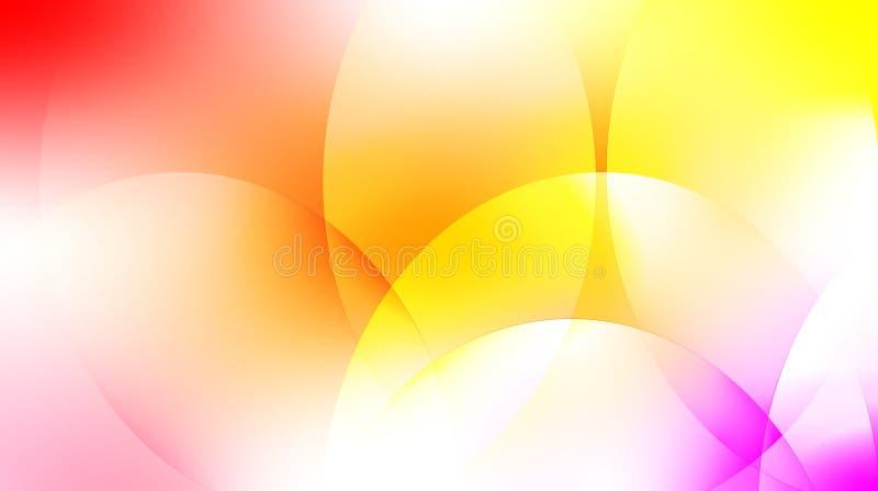 与白色和红色的抽象背景与紫色 向量例证