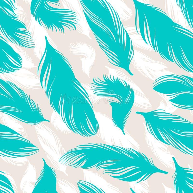 绿松石羽毛 向量例证