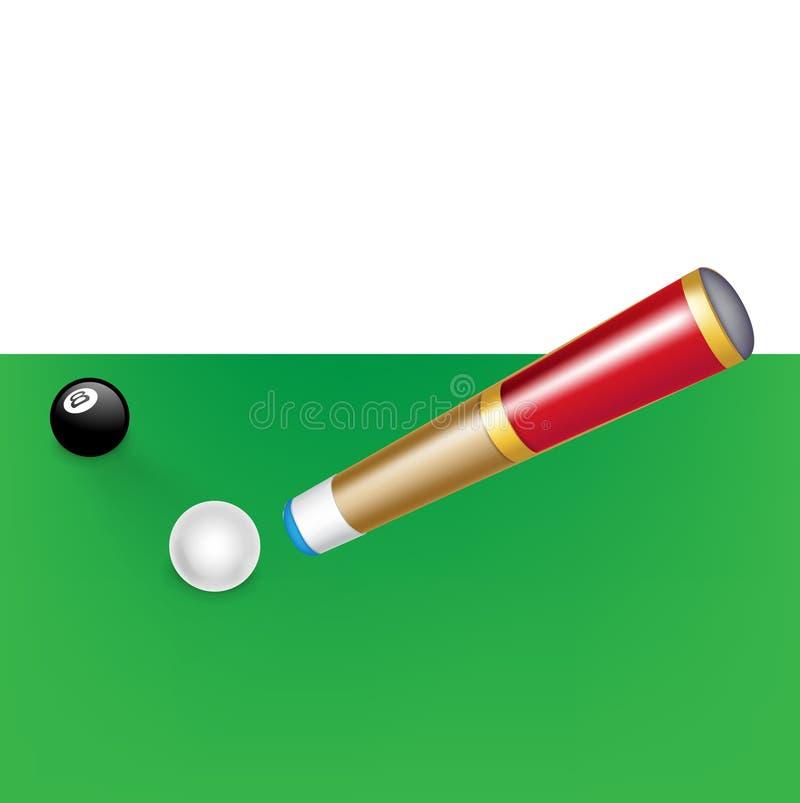 与白色和黑球的台球暗示 皇族释放例证