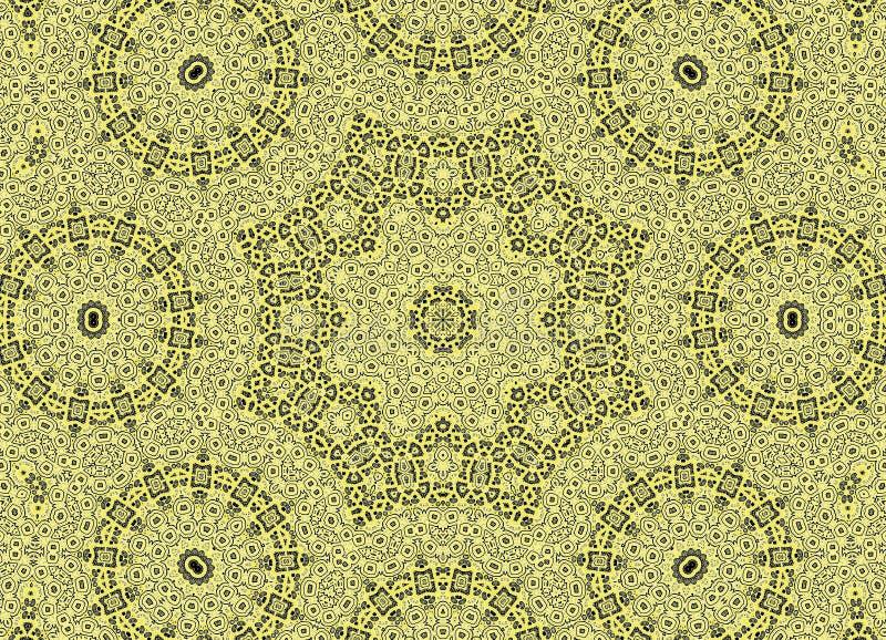 与白色图表和黄绿色样式的黑背景 向量例证