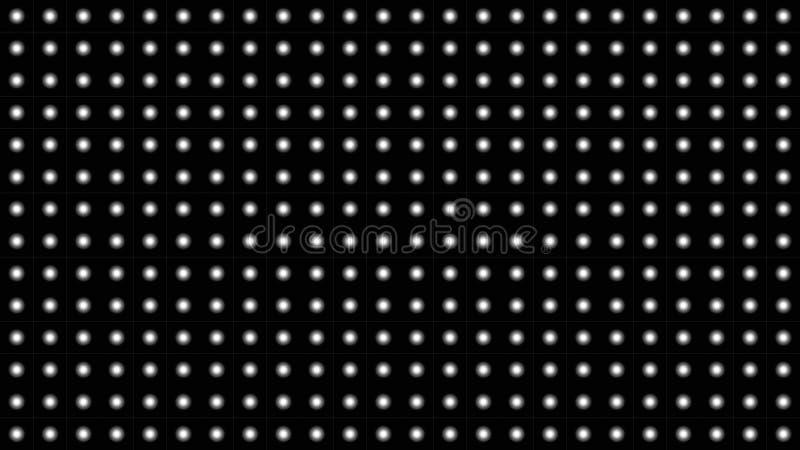 与白色小点装饰品的抽象黑背景 库存例证