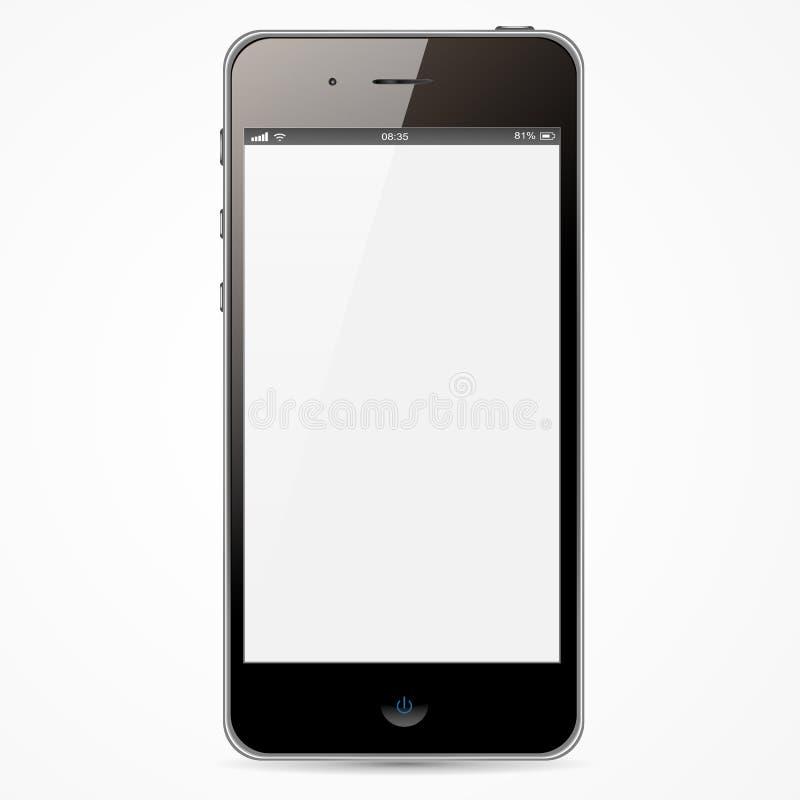 与白色屏幕的IPhone 库存例证