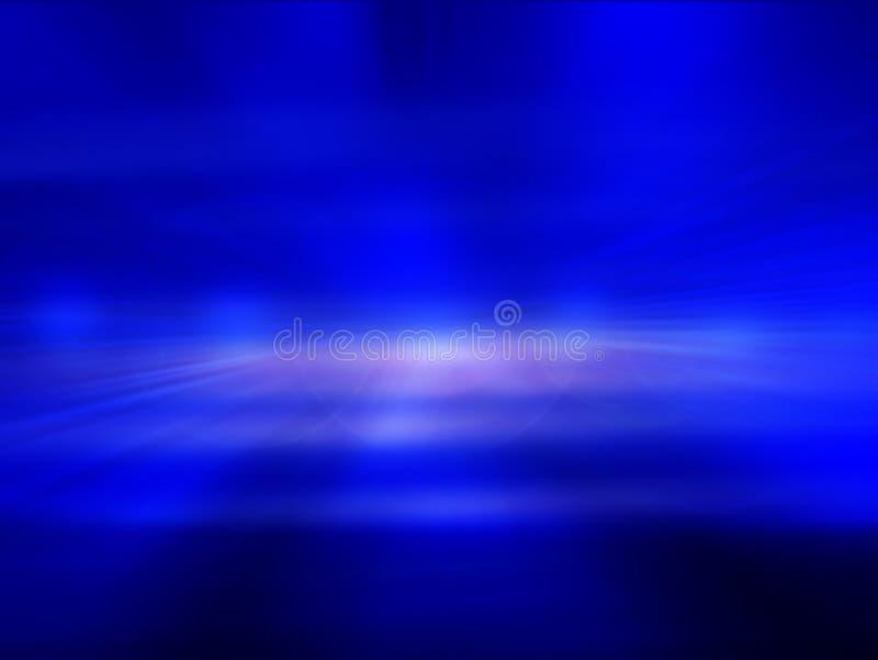 与白色斑点光的蓝色抽象背景 向量例证