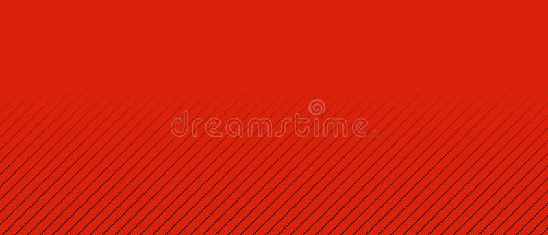 与白色条纹和颜色转折的红色背景 向量例证