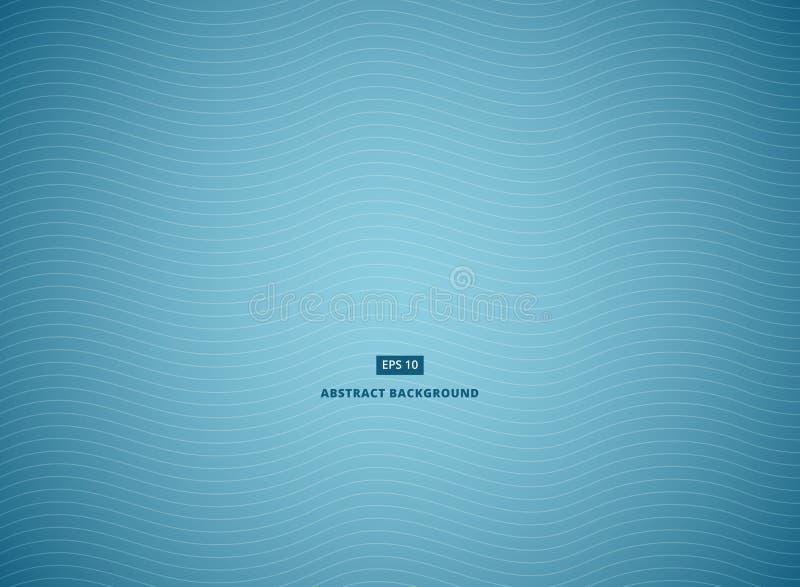 与白色波浪线的蓝色抽象背景 向量例证