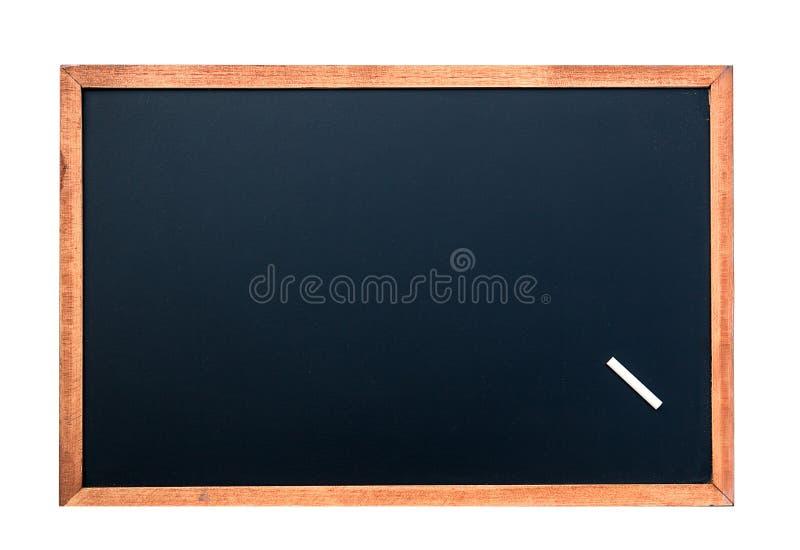与白色白垩的空的黑板纹理 背景的图象 免版税图库摄影