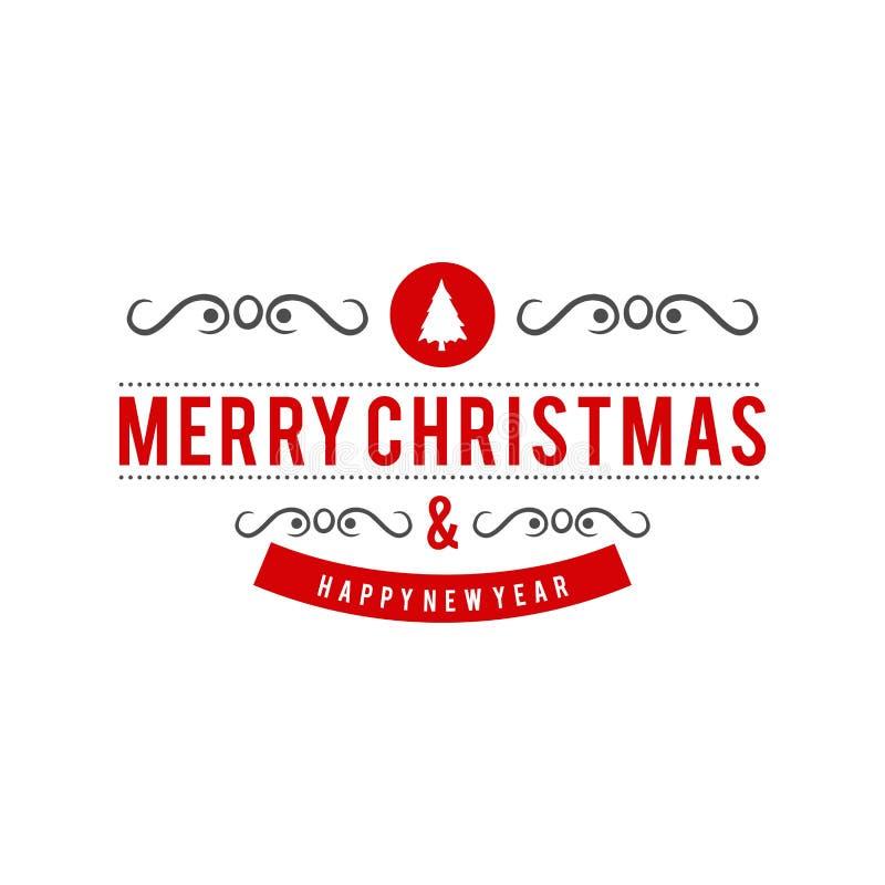 与白色背景传染媒介的圣诞快乐创造性的设计 向量例证