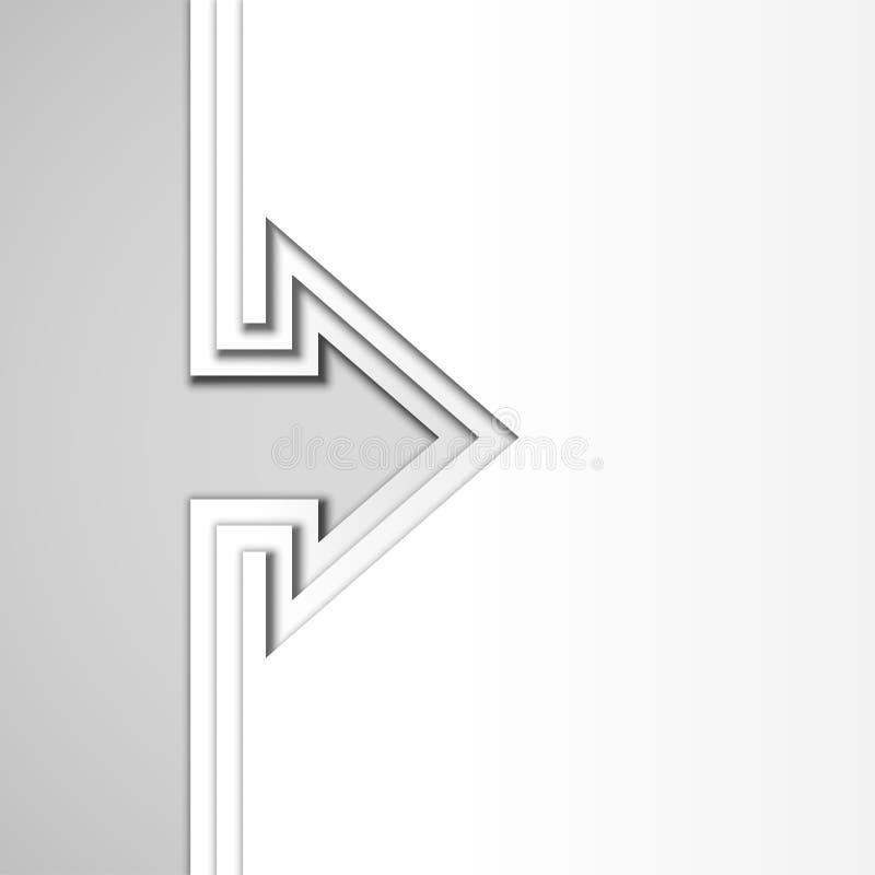 与白色裁减纸层数的五颜六色的箭头 库存例证