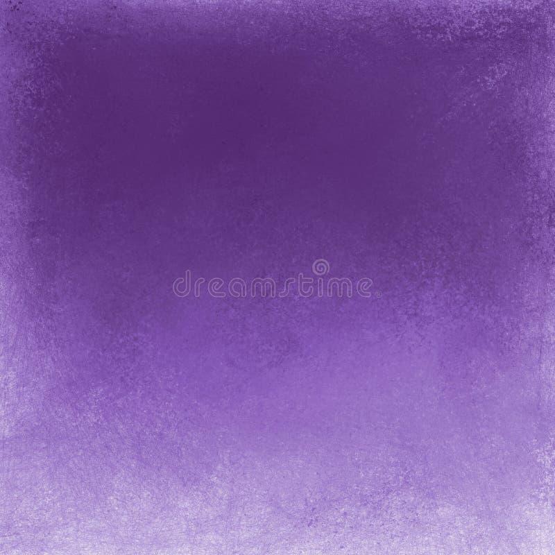 与白色难看的东西边界,被弄脏的杂乱葡萄酒纹理设计的紫罗兰色紫色背景 免版税库存图片