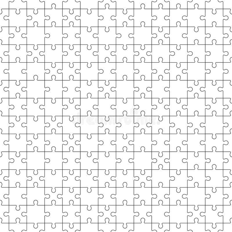 与白色难题片断的曲线锯的无缝的样式 皇族释放例证