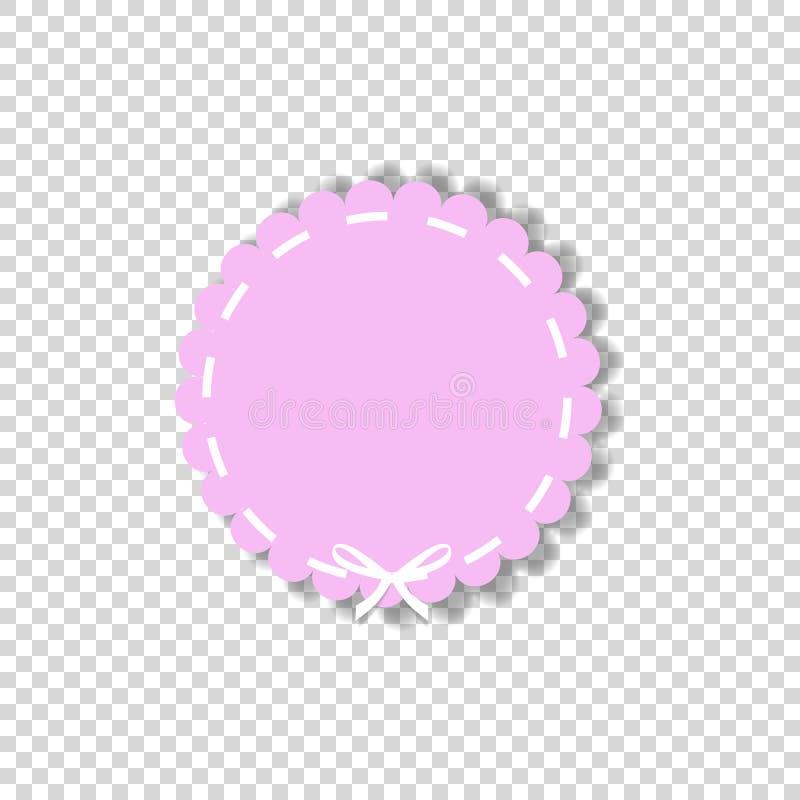 与白色鞋带的淡粉红的圈子封印邮票 皇族释放例证
