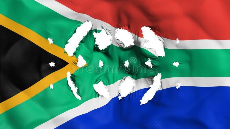 与的南非旗子小孔 皇族释放例证