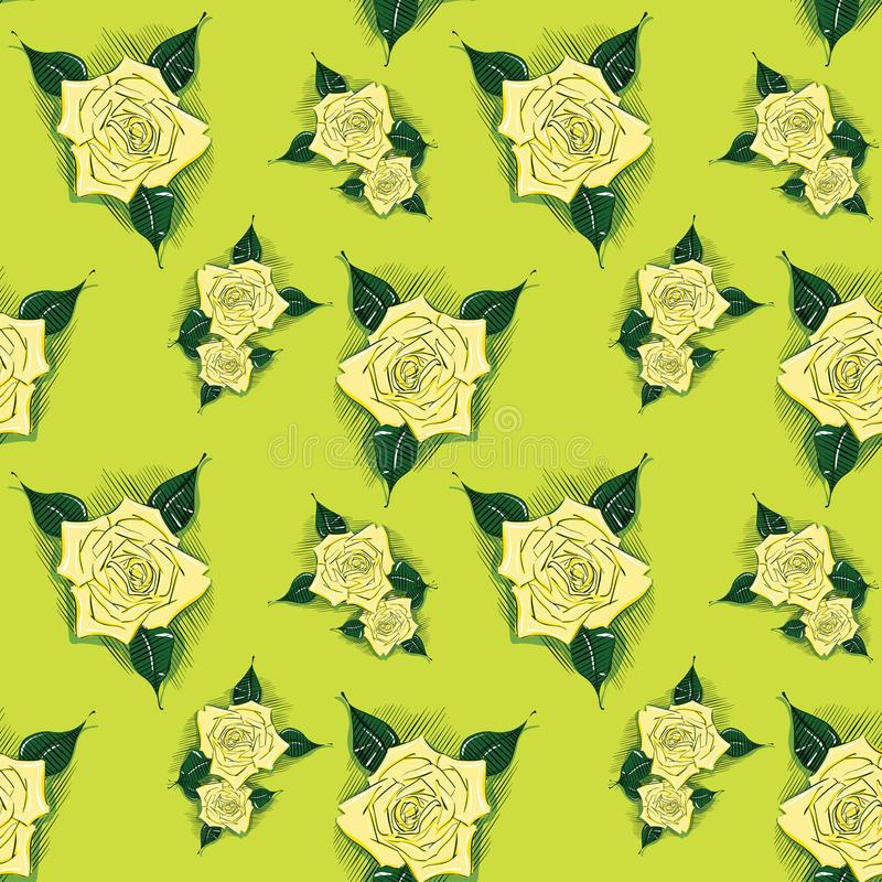 与的无缝的背景玫瑰 皇族释放例证