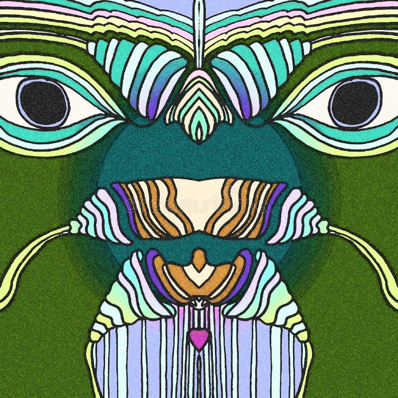 与的森林鸟大眼睛 库存例证