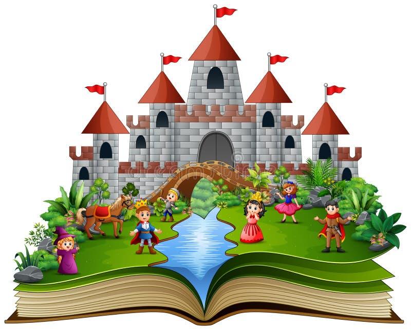 与皇家故事动画片的故事书 向量例证