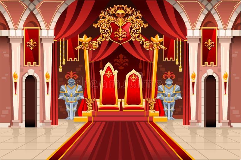 与皇家装甲的中世纪艺术品 向量例证