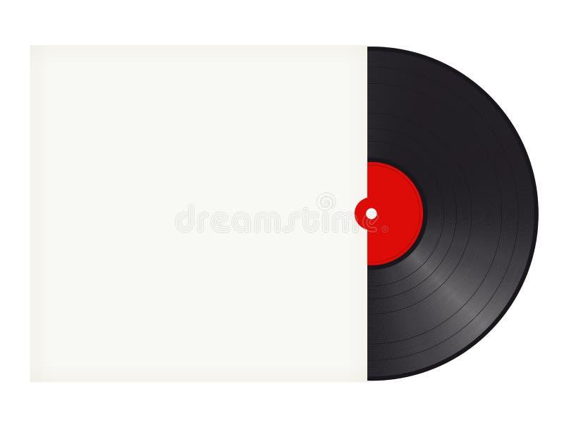 与盖子的唱片有文本的空间的 皇族释放例证