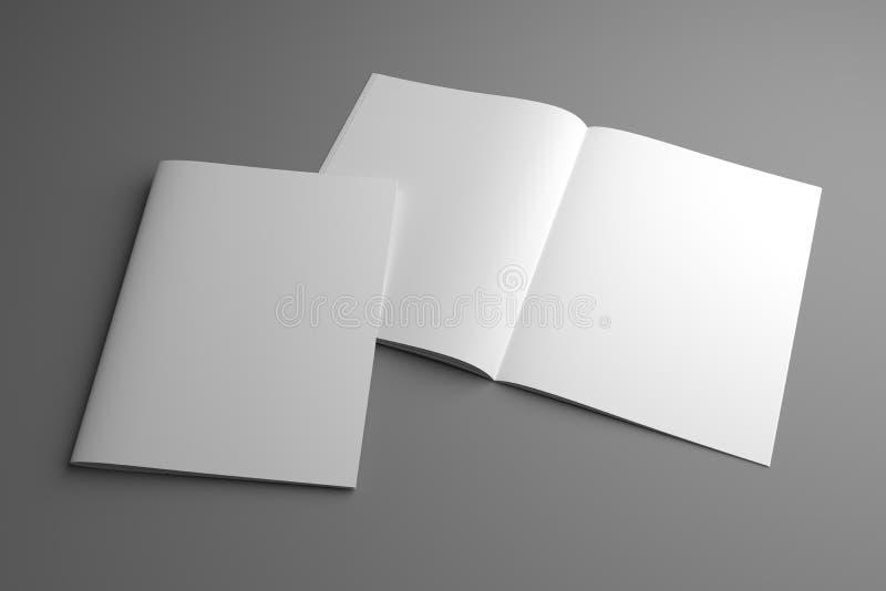 与盖子的空白开放3d例证美国信件杂志大模型 向量例证
