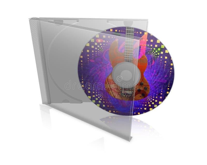 与盘的CD的盒 库存例证