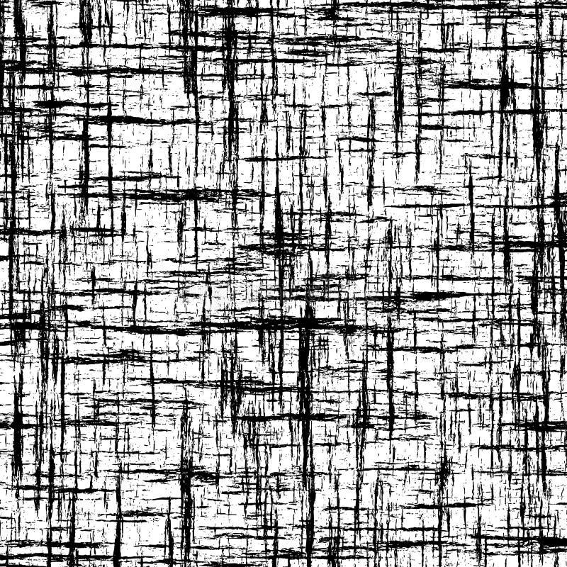 与相交的难看的东西条纹的黑白抽象背景 皇族释放例证