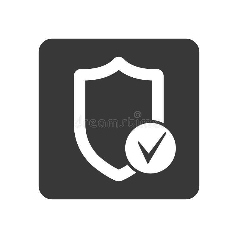 与盾标志的质量管理象 库存例证
