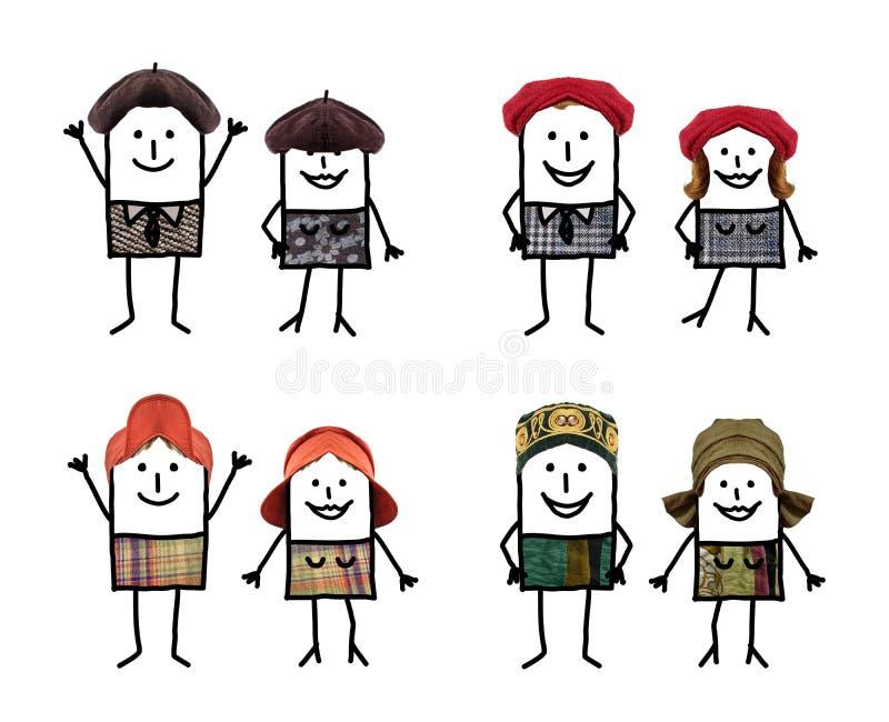 插画 包括有 不同, 范例, 人力, 蒙太奇, 图画, 微笑 - 86412090图片