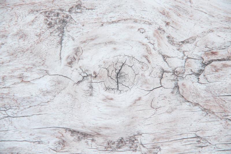 与眼睛的老木纹理和背景的破裂的样式 免版税库存图片