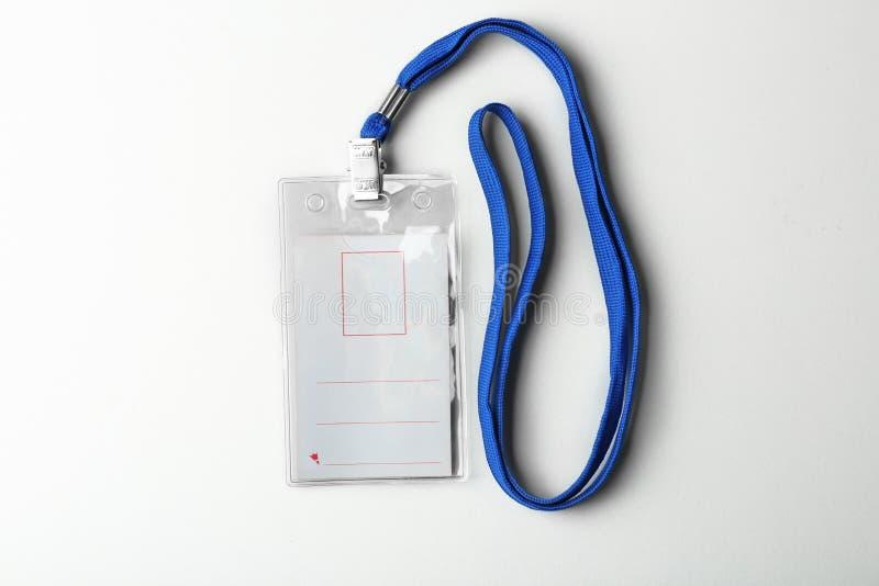 与短绳的空白的徽章 图库摄影