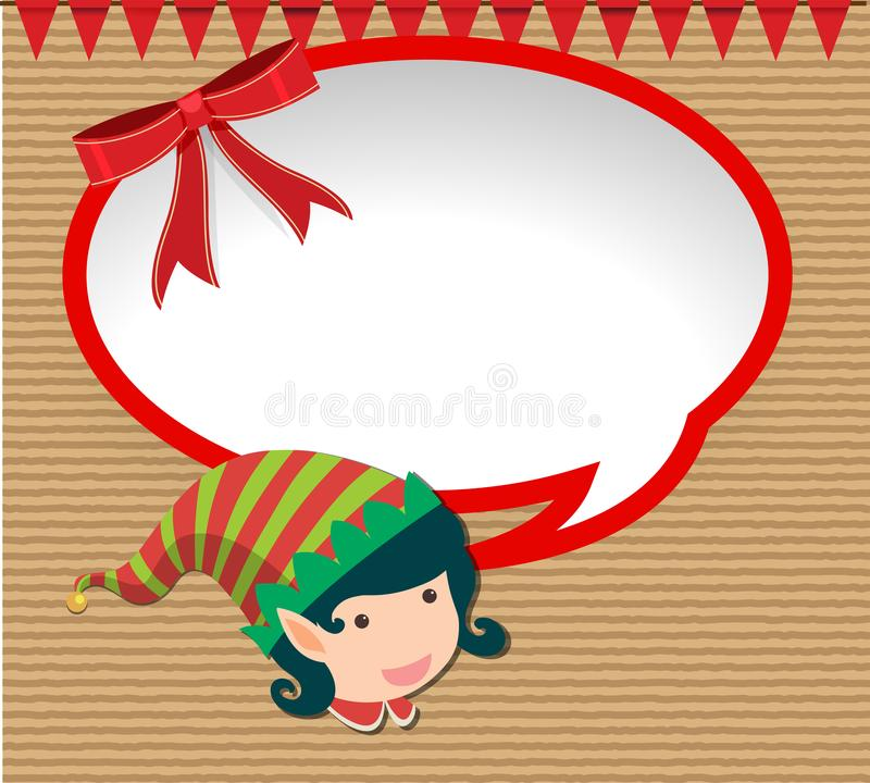 与矮子的横幅设计在圣诞节 库存例证