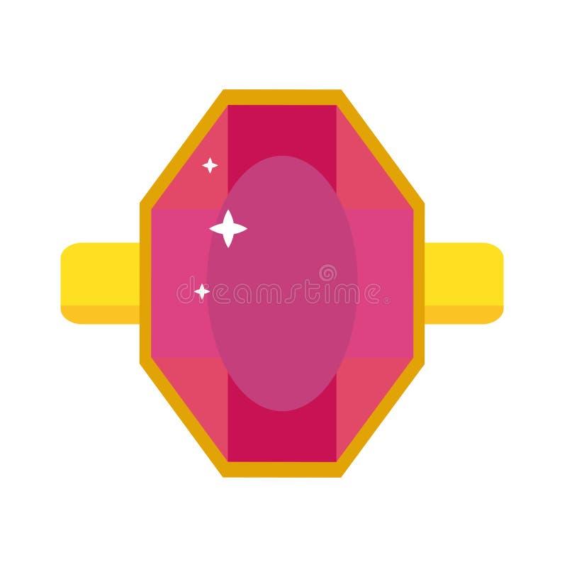 与石宝石传染媒介例证的珍贵的圆环 向量例证