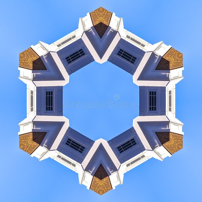 与砖的教会尖顶被形成入圆环 向量例证
