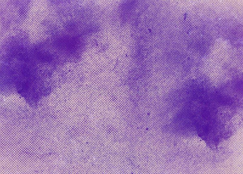 与破旧的油漆的梯度多彩多姿的灰色桃红色蓝色淡紫色抽象背景 与空白的减速火箭的横幅作用设计 免版税图库摄影