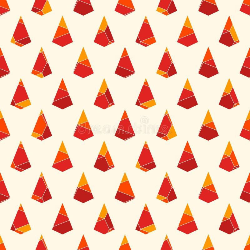 与破裂的石头的无缝的表面样式 重复的微型三角抽象墙纸 被破坏的风筝塑造主题 库存例证
