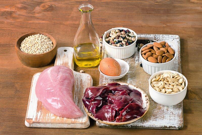 与硒的食物 免版税库存图片