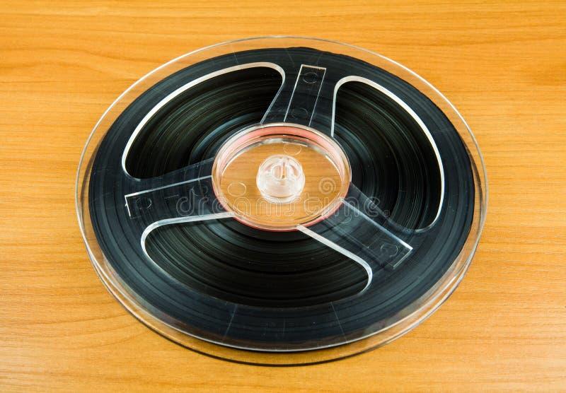 与磁带的卷轴 免版税库存照片