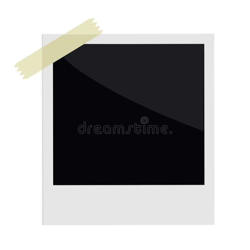 与磁带的被隔绝的立即照片在平的设计 皇族释放例证