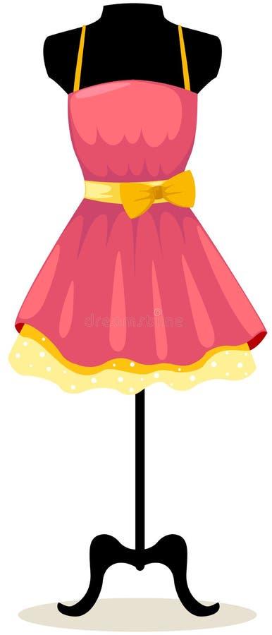与礼服的时装模特 向量例证