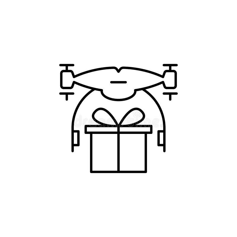 与礼物象的寄生虫 寄生虫的元素流动概念和网apps例证的 网站设计和开发商的稀薄的线象 库存例证